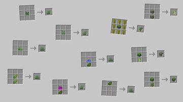 Craftable Foliage Minecraft Data Pack