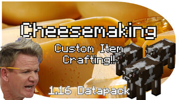 Artisan Cheesemaking | Farm and Create Your Own Cheese With Special Effects! Minecraft Data Pack
