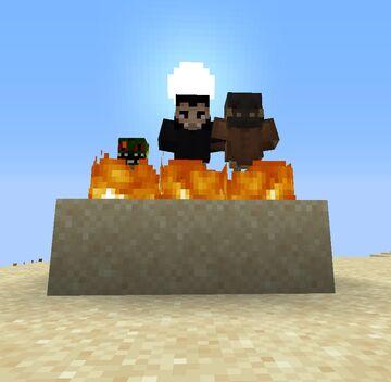 Players burn in Direct Sunlight (Fantasy Creature Trait) Minecraft Data Pack