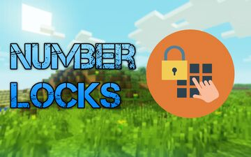 Number locks (For doors or redstone inputs) Minecraft Data Pack
