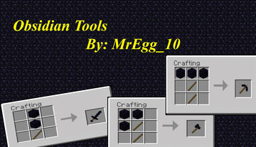 Obsidian Tools Minecraft Data Pack