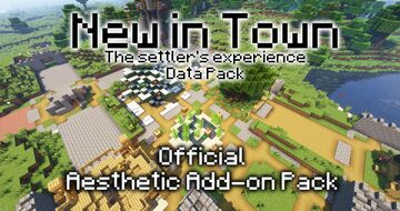 New in Town Official Aesthetic Structures Add-on Pack Minecraft Data Pack