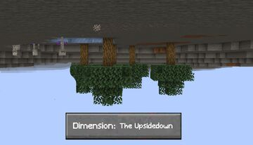 An Upside Down Dimension for 1.16.1 Minecraft Data Pack