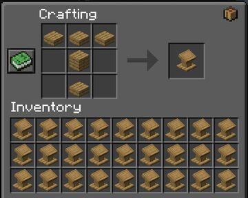 Bookless Lecterns Recipe(s) Minecraft Data Pack
