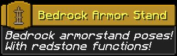 Armor Stand Poses [datapack] Minecraft Data Pack