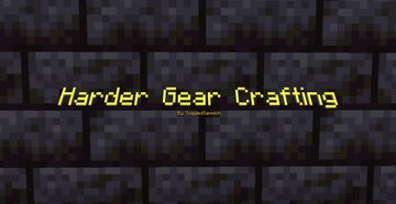 Harder Gear Crafting. Minecraft Data Pack