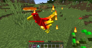 Mythical Pets One - Phoenix Minecraft Data Pack