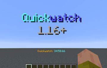 Quickwatch 1.16+ (Stopwatch datapack) Minecraft Data Pack