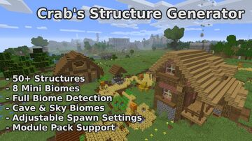 Crab's Structure Generator (Not Updating For 1.17) Minecraft Data Pack
