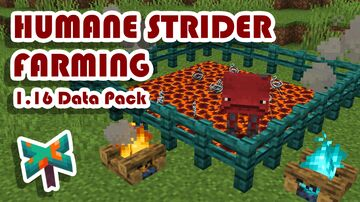 Humane Strider Farming + More Warm Blocks! Minecraft Data Pack