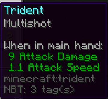 Multishot Trident Minecraft Data Pack