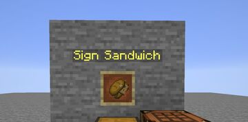 Edible Signs (Sign Sandwich) Minecraft Data Pack