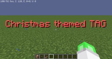 CHRISTMAS THEMED TAG!(easy to use!) Minecraft Data Pack