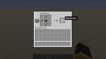 Easy dispenser crafting Minecraft Data Pack