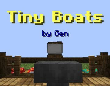 "Gen's ""Tiny Boats"" Datapack Minecraft Data Pack"