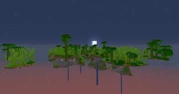 Floating Island Generation with Multiple Biomes Minecraft Data Pack