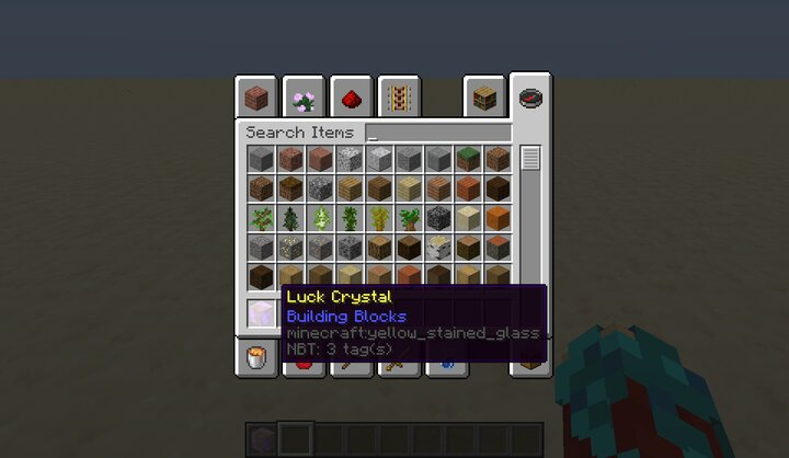 The magic crystal in the inventory.