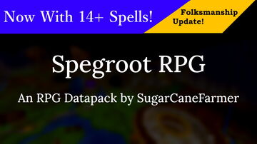 Spegroot RPG Minecraft Data Pack