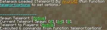 Teleport Minecraft Data Pack
