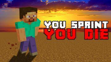You sprint, YOU DIE! Minecraft Data Pack