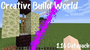 Creative Build World (1.16) Minecraft Data Pack