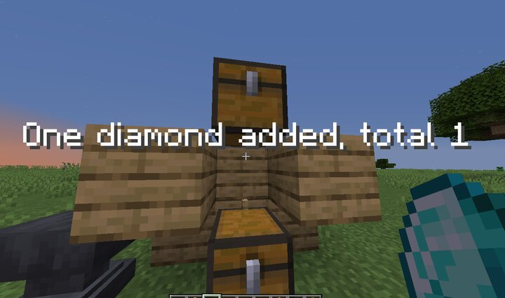 """Throw """"Cost"""" diamond above chest you want to turn into a shop, total is the cost of buying."""
