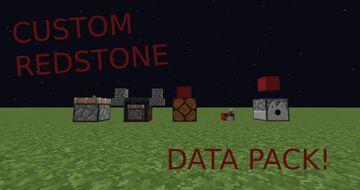 Custom Redstone Data pack! Minecraft Data Pack