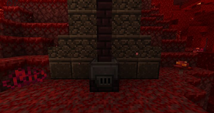 New infernal furnace made from netherrack and soul sandstone