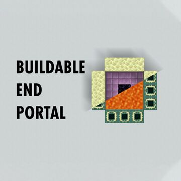Buildable End Portal Minecraft Data Pack