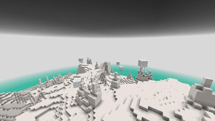 The End - world_endwhite_wastes quartz and ghasts