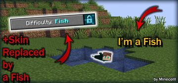 Minecraft but... you are a FISH!!... [MULTIPLAYER COMPATIBLE] Minecraft Data Pack
