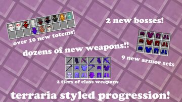Endmode  1.16 / 1.17 | New Bosses | 100+ Items | Terraria Style Progression Minecraft Data Pack
