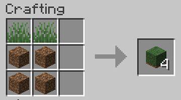 Craftable Grasses Minecraft Data Pack