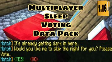 Multiplayer Sleep Voting v2.0 for Skipping Night Minecraft Data Pack