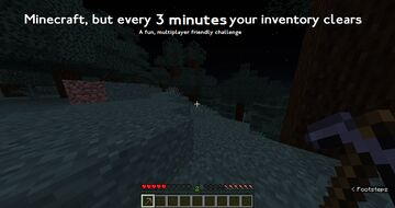 Minecraft, but your inventory clears every 3 minutes Minecraft Data Pack