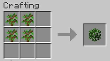 Craftable Leaves Minecraft Data Pack
