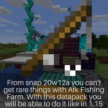 Old Fishing in 1.16 Minecraft Data Pack