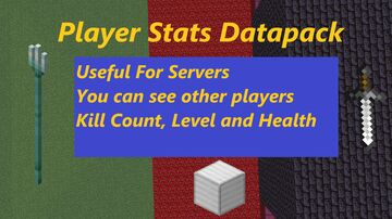 Player Stats Display (Total Kill Count, Level, Health) Minecraft Data Pack