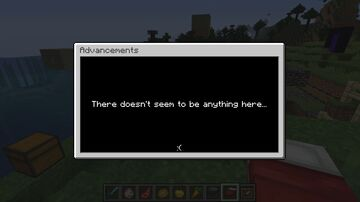 Blank (Empty) Advancements Minecraft Data Pack