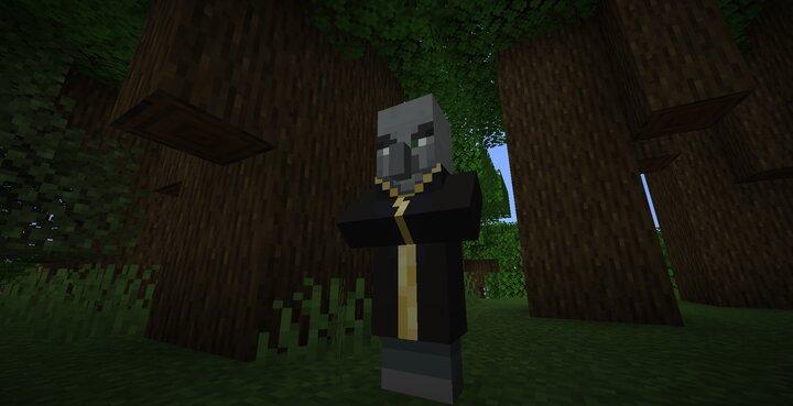 Evoker gain triple the health, triple fangs, and lightning vexes.