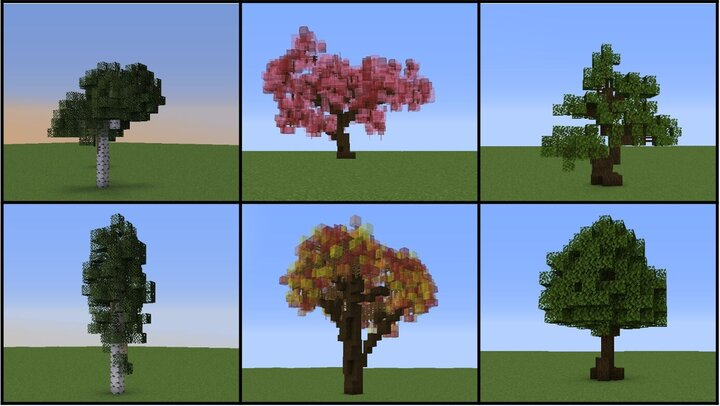 Some trees are not included in the pack yet but will be added in future updates