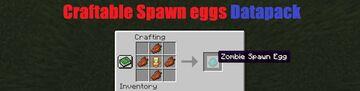 Craftable Spawn Eggs Minecraft Data Pack