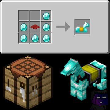 Craftable Horse Armor Minecraft Data Pack