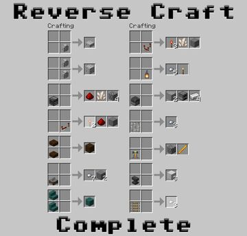 Reverse Craft Complete - Get Some Materials Back! Minecraft Data Pack