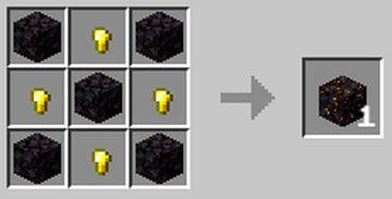 Gilded Blackstone   Crafting Recipe Minecraft Data Pack