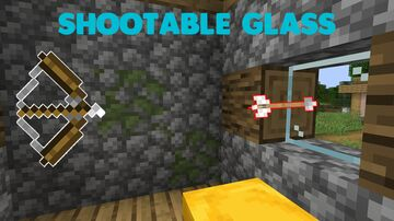 Shootable Glass Minecraft Data Pack