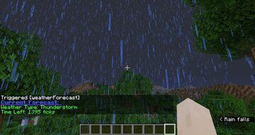 Weather Forecast Minecraft Data Pack
