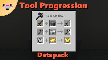 Tool Progression | Upgrade tools using the smithing table Minecraft Data Pack
