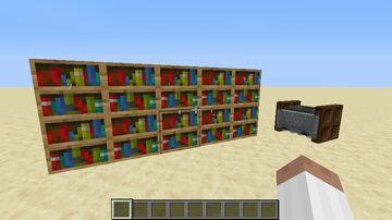 Interactive Bookshelves and Book return (1.17.1) Minecraft Data Pack