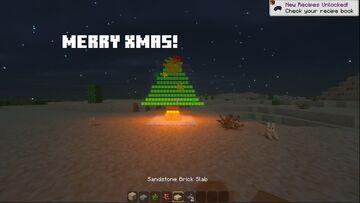 So I added xmas trees into minecraft Minecraft Data Pack